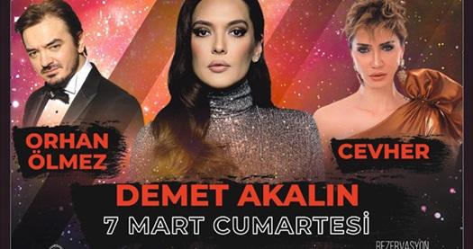 7 Mart'ta Sheraton Ankara Hotel'de gerçekleşecek Demet Akalın & Orhan Ölmez & Cevher konserine biletler! 7 Mart 2020 / 19:00 / Sheraton Ankara Hotel