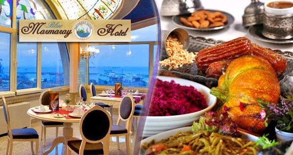 Yenikapı Blue Marmaray Hotel'de açık büfe iftar menüsü 69,90 TL! Bu fırsat 6 Mayıs - 3 Haziran 2019 tarihleri arasında, iftar saatinde geçerlidir.