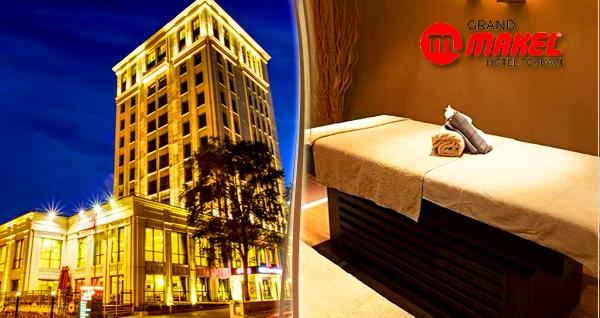 Grand Makel Hotel Topkapı Gold Spa'da ıslak alan kullanım dahil masaj ve  kese köpük uygulaması 65 TL'den başlayan fiyatlarla! Fırsatın geçerlilik tarihi için DETAYLAR bölümünü inceleyiniz.
