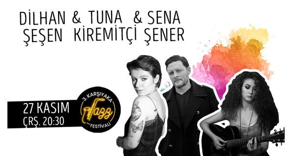27 Kasım'da Bostanlı Suat Taşer Tiyatrosu'nda gerçekleşecek Sena Şener-Dilhan Şeşen-Tuna Kiremitçi konserine ön satış biletleri 40 TL'den başlayan fiyatlarla! 27 Kasım 2019 | 20:30 | Bostanlı Suat Taşer Tiyatrosu
