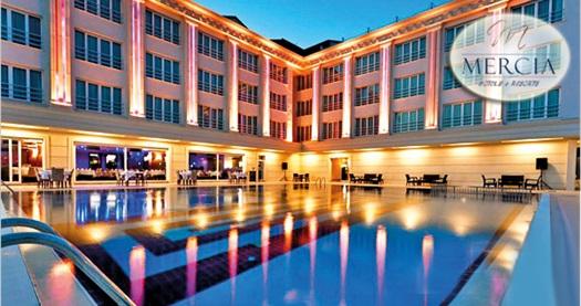 Kumburgaz Mercia Hotel'de çift kişilik 1 gece konaklama seçenekleri 89 TL'den başlayan fiyatlarla! Fırsatın geçerlilik tarihi için, DETAYLAR bölümünü inceleyiniz.