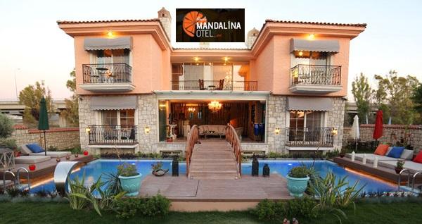 Alaçatı Mandalina Hotel'de kahvaltı dahil çift kişilik 1 gece konaklama seçenekleri 199 TL'den başlayan fiyatlarla! Fırsatın geçerlilik tarihi için, DETAYLAR bölümünü inceleyiniz.