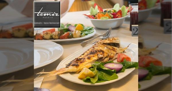Bostanlı Temiz Mandıra'da 2 yerli içecek eşliğinde leziz balık menüsü 79,90 TL'den başlayan fiyatlarla! Fırsatın geçerlilik tarihi için DETAYLAR bölümünü inceleyiniz.