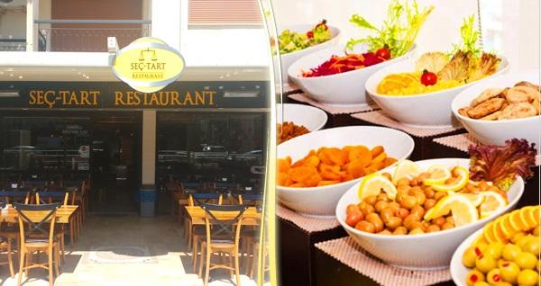 Seç-Tart Restorant'ın İzmir şubelerinde geçerli tadına doyamayacağınız açık büfe kahvaltı keyfi 40 TL yerine 24,90 TL! Fırsatın geçerlilik tarihi için DETAYLAR bölümünü inceleyiniz.