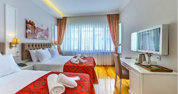 Beyazıt Palace Hotel'de kahvaltı dahil 1 gecelik konaklama seçenekleri 229 TL'den başlayan fiyatlarla! Fırsatın geçerlilik tarihi için DETAYLAR bölümünü inceleyiniz.