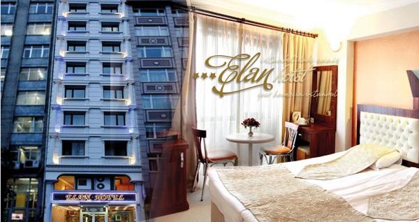 Taksim Elan Hotel'de çift kişilik 1 gece konaklama seçenekleri 199 TL'den başlayan fiyatlarla! Fırsatın geçerlilik tarihi için DETAYLAR bölümünü inceleyiniz.