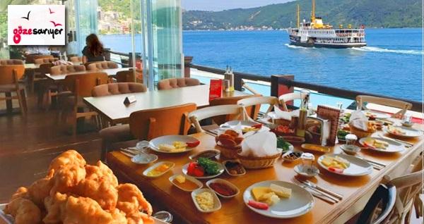 Göze Sarıyer'de Boğaz manzarası eşliğinde 2 kişilik serpme kahvaltı 115 TL! Fırsatın geçerlilik tarihi için DETAYLAR bölümünü inceleyiniz.