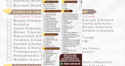 Waffle in Love - Ankara Islak Hamburger'de ıslak hamburger ve waffle menüleri 37 TL'den başlayan fiyatlarla! Fırsatın geçerlilik tarihi için DETAYLAR bölümünü inceleyiniz.