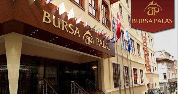 Konforun vazgeçilmez adresi Bursa Palas Hotel'de kahvaltı dahil çift kişilik 1 gece konaklama 179 TL'den başlayan fiyatlarla! Fırsatın geçerlilik tarihi için DETAYLAR bölümünü inceleyiniz.