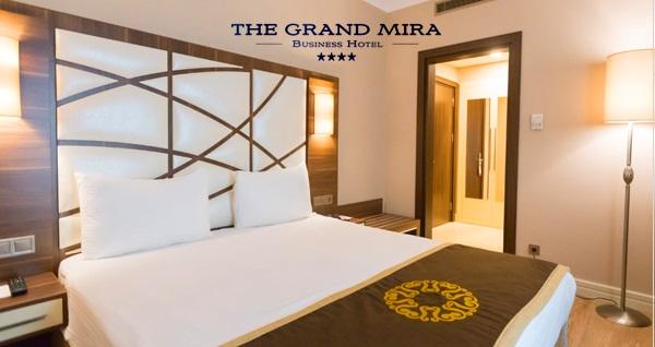 Kartal The Grand Mira Hotel'de çift kişilik 1 gece kahvaltı dahil konaklama 245 TL! Fırsatın geçerlilik tarihi için DETAYLAR bölümünü inceleyiniz.