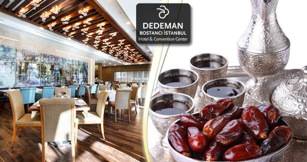 İstanbul'un kalbinde yer alan Dedeman Bostancı Hotel'de canlı müzik eşliğinde açık büfe iftar menüsü 89 TL'den başlayan fiyatlarla! Bu fırsat 6 Mayıs - 3 Haziran 2019 tarihleri arasında, iftar saatinde geçerlidir.
