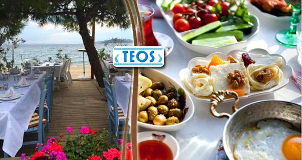 Kınalıada Teos Beach Club'ta deniz manzarası eşliğinde sınırsız çay eşliğinde organik serpme kahvaltı ve brunch keyfi 44,90 TL'den başlayan fiyatlarla! Fırsatın geçerlilik tarihi için DETAYLAR bölümünü inceleyiniz.
