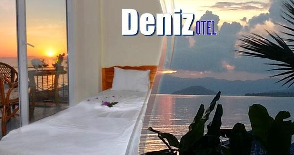 Fethiye Deniz Otel'de çift kişilik 1 gece YARIM PANSİYON konaklama 179 TL! Fırsatın geçerlilik tarihi için, DETAYLAR bölümünü inceleyiniz.
