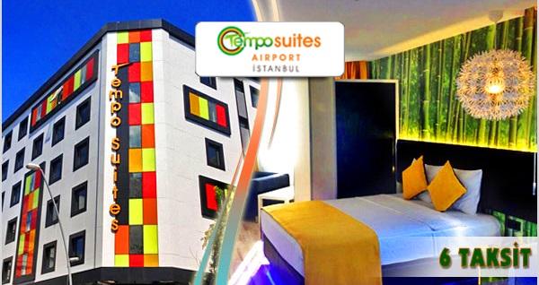 Bahçelievler'in renkli adresi Tempo Suites Airport'ta kahvaltı dahil çift kişilik 1 gece konaklama 350 TL yerine 199 TL! Fırsatın geçerlilik tarihi için, DETAYLAR bölümünü inceleyiniz.