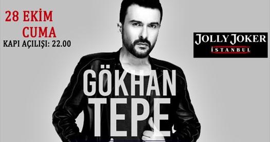 28 Ekim'de Jolly Joker İstanbul sahnesinde gerçekleşecek Gökhan Tepe konserine biletler 44,90 TL! 28 Ekim 2016 | 22.00 | Jolly Joker İstanbul