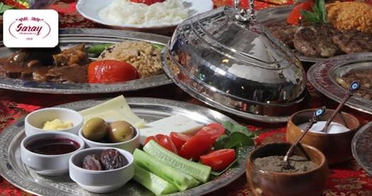 Saray Muhallebicisi Fatih'te Fasıl Dinletisi Eşliğinde İftar Menüsü 49 TL! 6 Haziran- 4 Temmuz 2016 tarihleri arasında, iftar saatinde geçerlidir.