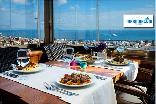 Marmarion Teras Antik Hotel İstanbul'da zengin açık büfe iftar menüsü 55 TL! 16 Mayıs 2018-14 Haziran 2018 tarihleri arasında, iftar saatinde geçerlidir.