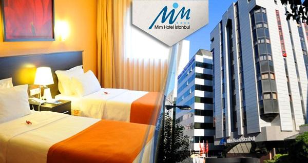 Mim Hotel İstanbul'da kahvaltı dahil çift kişilik 1 gece konaklama keyfi