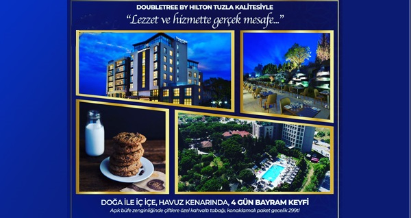 Double Tree By Hilton Tuzla'da Doğayla İç İçe Zengin Kahvaltı Dahil Çift Kişilik Bayram Konaklaması 299 TL! Bu fırsat Ramazan Bayramı günleri geçerlidir.