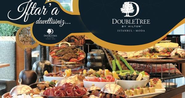 DoubleTree by Hilton Istanbul - Moda The Doubles Restaurant'ta zengin açık büfe iftar menüsü 115 TL! Bu fırsat 6 Mayıs - 3 Haziran 2019 tarihleri arasında, iftar saatinde geçerlidir.