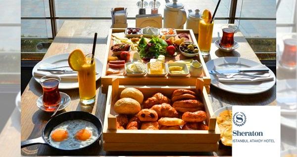 Sheraton İstanbul Ataköy Hotel'de her Cumartesi ve Pazar geçerli iki kişilik kasa kahvaltı 130 TL! Fırsatın geçerlilik tarihi için DETAYLAR bölümünü inceleyiniz.