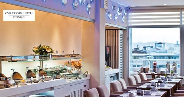 CVK Taksim Hotel'de haftanın her günü geçerli zengin açık büfe kahvaltı 29 TL! Fırsatın geçerlilik tarihi için DETAYLAR bölümünü inceleyiniz.
