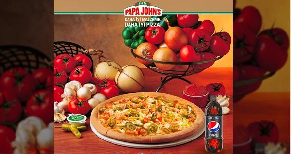 İyi malzeme ve iyi pizzanın adresi Papa John's'un 63 şubesinde geçerli dilediğiniz büyük boy pizza ve 1 litre içecek 50 TL yerine 35 TL! Fırsatın geçerlilik tarihi için DETAYLAR bölümünü inceleyiniz.
