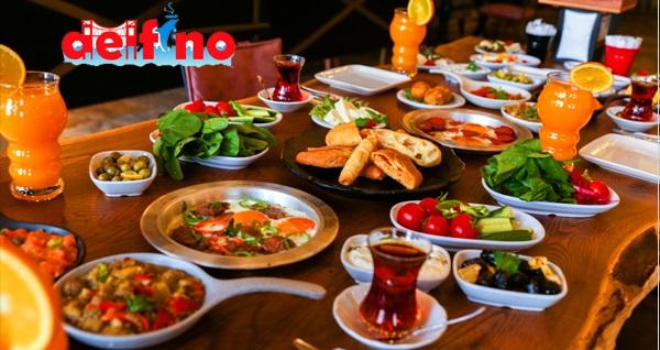Delfino Cafe Restaurant'ta serpme kahvaltı kişi başı 35 TL! Fırsatın geçerlilik tarihi için DETAYLAR bölümünü inceleyiniz.