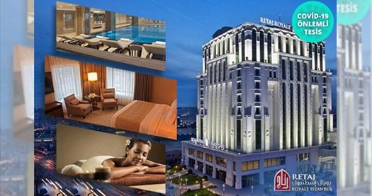 5 yıldızlı Retaj Royale İstanbul Hotel'de masaj paketi ve kahvaltı dahil çift kişilik 1 gece konaklama seçenekleri 449 TL'den başlayan fiyatlarla! Fırsatın geçerlilik tarihi için DETAYLAR bölümünü inceleyiniz.