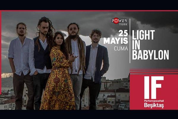 25 Mayıs'ta IF Performance Hall Beşiktaş Sahnesi'nde gerçekleşecek Light In Babylon konseri için biletler 44 TL yerine 26,40 TL! 25 Mayıs 2018 | 20:00 | IF Performance Hall Beşiktaş