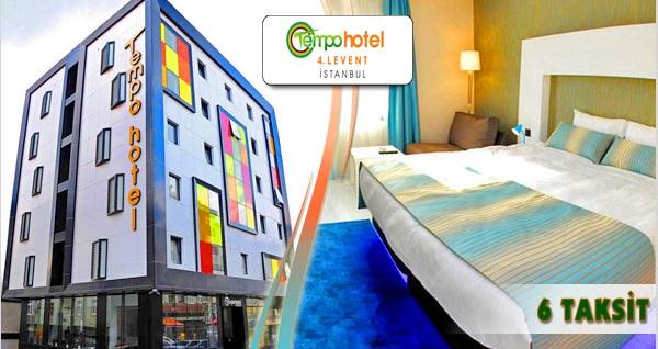 İstanbul'un renkli adresi Tempo Hotel 4 Levent'te kahvaltı dahil çift kişilik 1 gece konaklama keyfi 350 TL yerine 209 TL! Fırsatın geçerlilik tarihi için, DETAYLAR bölümünü inceleyiniz.