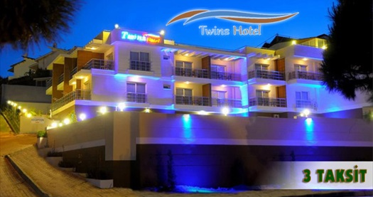 Çeşme'deki huzur köşeniz Twins Hotel'de çift kişilik kahvaltı dahil 1 gece konaklama keyfi 155 TL yerine 99 TL! 26 Mart-29 Mayıs 2015 tarihleri arasında, haftanın her günü geçerlidir. Fırsata, deluxe veya müsaitlik durumuna göre deniz manzaralı klasik suit odalarda çift kişilik 1 gece konaklama kahvaltı dahil.
