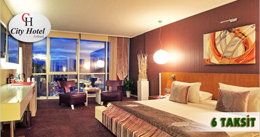 City Hotel Ankara'da kahvaltı dahil çift kişilik 1 gece konaklama ve spa keyfi 300 TL yerine 159 TL 1 - 30 Eylül tarihleri arasında,  2014 tarihine kadar, Cuma, Cumartesi, Pazar günleri geçerlidir. Fırsata, konaklama, kahvaltı ve (masaj hariç) UNIQUE SPA kullanımı dahildir.