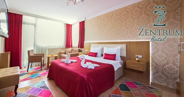 Grand Zentrum Hotel'de kahvaltı dahil çift kişilik 1 gece konaklama keyfi