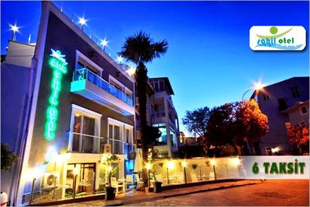 Büyükada Sahil Otel'de kahvaltı dahil çift kişilik 1 gece konaklama keyfi 257 TL yerine 149 TL! Cuma - Cumartesi günleri HARİÇ; 15 Eylül 2014 tarihlerine kadar geçerlidir. Fırsata, çift kişilik 1 gece konaklama ve kahvaltı dahildir.