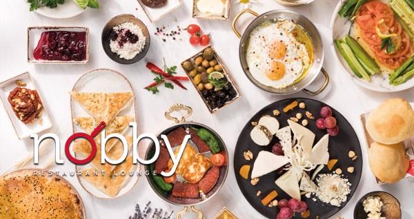 Nobby Restaurant Lounge'da 35 çeşit zengin serpme kahvaltı 34,90 TL! Fırsatın geçerlilik tarihi için DETAYLAR bölümünü inceleyiniz.