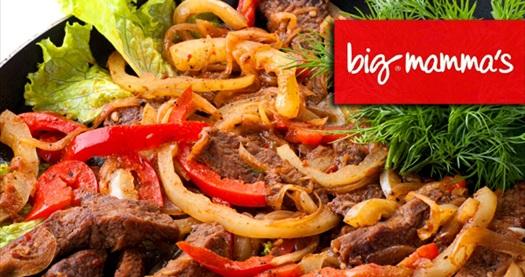 FSM Big Mamma's'ta içecek ve tiramisudan oluşan leziz et ya da tavuk fajita menü 35 TL yerine 14,90 TL! 16 Ağustos 2013 tarihine kadar geçerlidir.