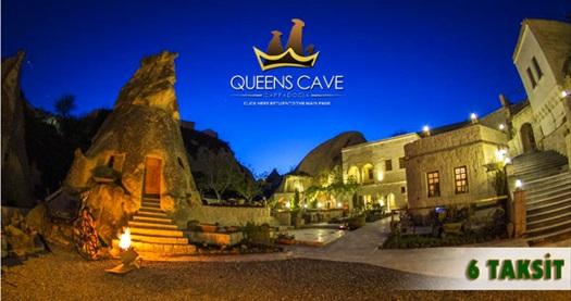 Queen's Cave Cappadocia'da kahvaltı dahil çift kişilik 1 gece mağara odalarda konaklama keyfi 250 TL yerine 149 TL! Özel günler ve bayram dönemi HARİÇ; 1 Ekim 2016 tarihine kadar, haftanın her günü geçerlidir.