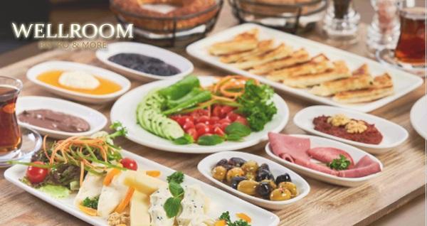 Wellroom Bistro & More'da çift kişilik kahvaltı keyfi