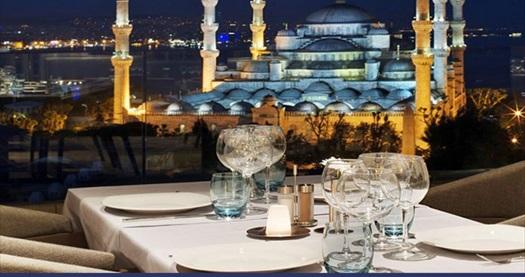 Sultanahmet Fine Dine İstanbul Restaurant'ta muhteşem manzaraya nazır lezzet menüsü 120 TL yerine 59 TL! Fırsatın geçerlilik tarihi için DETAYLAR bölümünü inceleyiniz. Yemek servisi haftanın her günü 15:00-22:30 saatleri arasında yapılmaktadır. Ana yemek seçmeli olarak sunulmaktadır.