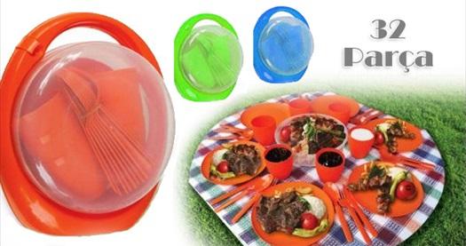 Farklı renk seçenekleriyle özel çantasında 32 parça piknik seti 39,90 TL yerine 14,90 TL! Tüm Türkiye'ye kargo hizmeti vardır.