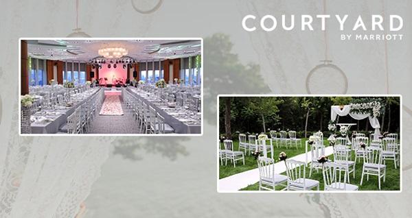 Courtyard by Marriott Istanbul West Hotel'de yapacağınız düğün organizasyonlarınız için %15'e varan indirim sağlayan çek 3 TL! Fırsatın geçerlilik tarihi için, DETAYLAR bölümünü inceleyiniz.