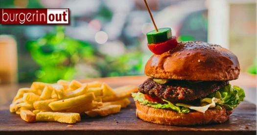 Üçyol Burger In Out'ta tadına doyulmaz el yapımı hamburger menüsü 40 TL yerine 30 TL! Fırsatın geçerlilik tarihi için DETAYLAR bölümünü inceleyiniz.