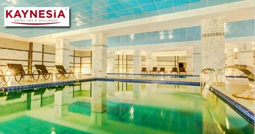 Turgutlu Kaynesia Hotel'de buhar odası, fitness, fin ve Türk hamamı, kapalı havuzları içeren spa alan kullanımı 44,90 TL! Fırsatın geçerlilik tarihi için DETAYLAR bölümünü inceleyiniz.