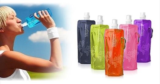 Çevre Dostu, Sağlıklı ve Katlanabilir 3'lü Su Şişesi Seti 50 TL yerine 9,90 TL! Bu şişe bildiğiniz su şişelerinden değil! Tüm Türkiye'ye ÜCRETSİZ kargo hizmeti...