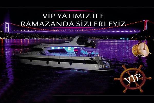 Bosphorus Organization'dan Vip Yatta Tasavvuf Muziği ve Nostalji Şarkıları ile Boğaz Turu eşliğinde iftar menüsü 85 TL! Bu fırsat 16 Mayıs - 14 Haziran 2018 tarihleri arasında, iftar saatinde geçerlidir.