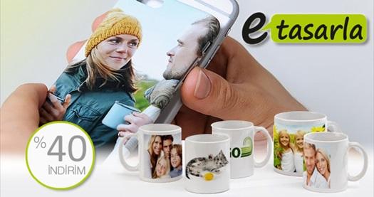 Kendinize özel telefon kapağı ve kupa tasarlayabileceğiniz etasarla.com'da geçerli %40 indirim sağlayan hediye çeki 2 TL! 14 Şubat 2015 tarihine kadar geçerlidir. Tüm Türkiye'ye kargo hizmeti vardır.