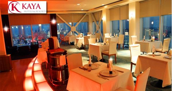 Kaya İstanbul Fair & Convention Hotel Summit Restaurant'ta Cuma ve Cumartesi akşamı Damla ve Buzuki Bora sahnesi eşliğinde enfes akşam yemeği 199 TL yerine 109 TL! Fırsatın geçerlilik tarihi için DETAYLAR bölümünü inceleyiniz.