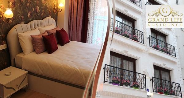 Grand Life Residence'ta çift kişilik 1 gece konaklama