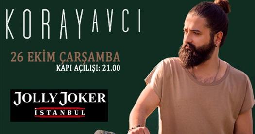 26 Ekim'de Jolly Joker İstanbul sahnesinde gerçekleşecek Koray Avcı konserine biletler 44,90 TL! 26 Ekim 2016 | 22.00 | Jolly Joker İstanbul